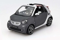 Smart For Two cabrio 2014 + soft top grijs / zilver  1/18