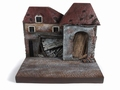 Diorama War Torn Building resin backdrop 1/18