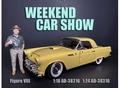 Weekend car show Figure VIII man met hoed 1/18