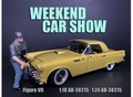 Weekend car show Figure VII Man met pet en baard 1/18
