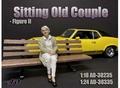 Old Couple - II Oude vrouw zittend 1/24