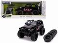 Jeep Wrangler 2007 Zwart - Black + 5 extra Wheels 1/24