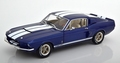 Shelby Mustang GT 500 Blauw - blue  white stripes 1/18