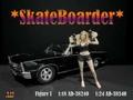 Skateboarder Figuur I Girl Pink shoes 1/24