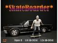 Skateboarder figuur II man op skateboard 1/18