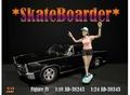 Skateboarder figuur IV vrouw op skateboard 1/18