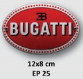 Bugatti emaille ovaal 10 x 5 cm