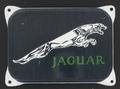 Jaguar emaille bordje zwart 14 x 10