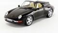 Porsche 911 Carrera Cabdriolet 1993 ZWart - Black 1/18