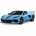 Chevrolet Corvette Stingray  High wing 2020 Blauw - Blue  1/18