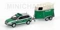 VW Touareg 2002 Polizei dresden met aanhangwagen Politie 1/43