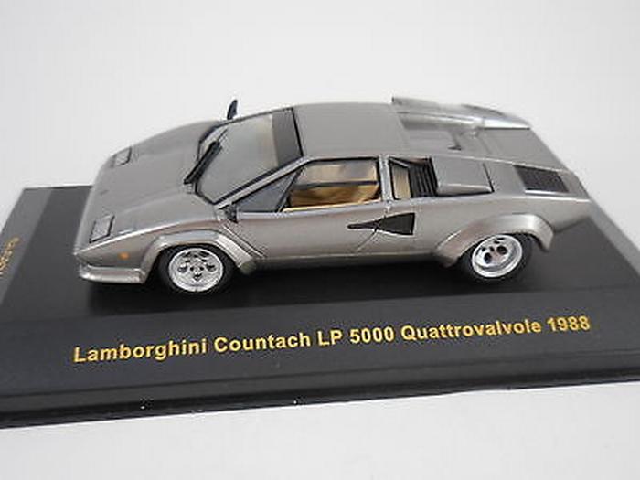 Lamborghini Countach Lp 5000 Quattrovalvole 1988 Grey Grijs 1 43
