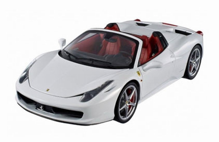 Ferrari 458 Spider Wit White Cabrio 1 18