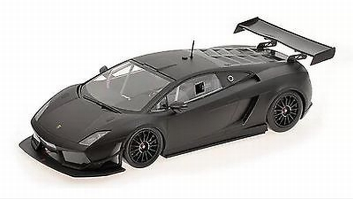 Lamborghini Gallardo Lp 600 Gt3 Zwart Matt Black 1 18